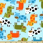 Urban Zoologie Cow Cotton Fabric - Bermuda