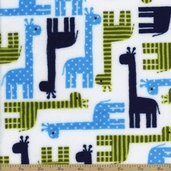 Urban Zoologie Cuddle Giraffe Polyester Fabric - Midnight