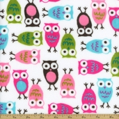 Urban Zoologie Cuddle Night Owl Polyester Fabric - Fuchsia