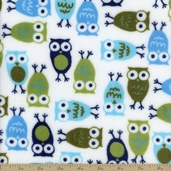 Urban Zoologie Cuddle Night Owl Polyester Fabric - Midnight