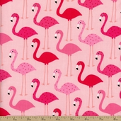 Urban Zoologie Flamingo Cotton Fabric - Pink