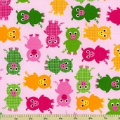 Urban Zoologie Pig Cotton Fabric - Bright