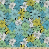 Valentina Packed Petals Cotton Fabric - Garden