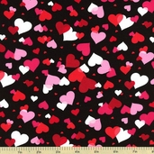 Valentine Cotton Fabric Licorice ASW-12994-182