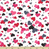 Valentine Cotton Fabric White ASW-12994-1