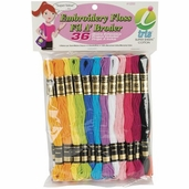 Cotton Embroidery Floss Value Pack - Pastel 36 Peice - Iris