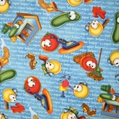 Veggie Tales Helping Hands - Royal - CLEARANCE