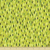 Velocity Cotton Fabric - Raindrops - Green