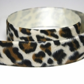 Velour Ribbon Trim 1.5in. - Leopard Cream - CLEARANCE