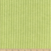Velvet Blossoms Stripe Flannel Fabric - Green