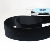 Velvet Ribbon 36mm - Black - 11yds