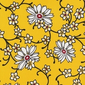 Vera's Garden Cotton Fabric - Yellow