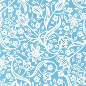 Veranda Cotton Fabric - Aqua