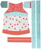 Verona Cotton Fabric - Apron Panel - Rouge