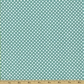 Verona Cotton Fabric - Dots - Teal