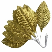 Victoria Lynn Decorative Rose Leaf 6 Pack Bundle - Gold