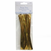 Victoria Lynn Twist Ties 6 Pack Bundle - Gold