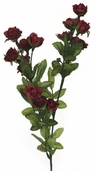 Victorian Sweetheart Rose Spray 24in - Burgundy  - Pkg of 12