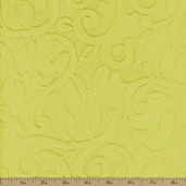 Vine Cuddle Minky Polyester Fabric - Limon