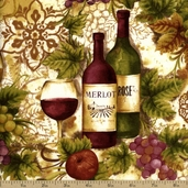Vineyard Collection Cotton Fabric - Merlot AHV-13622-102