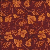 Vineyard Cotton Fabric Collection - Burgundy