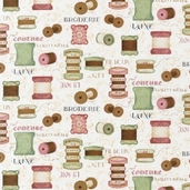 Vintage Couturier Cotton Fabric - Beige -