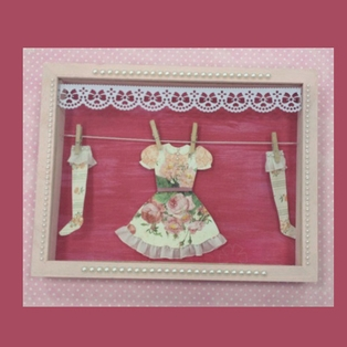 Vintage Dress Shadow Box