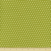 Vintage Modern Cotton Fabric - Dot - Green