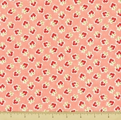 Vintage Modern Cotton Fabric - Small Floral - Pink