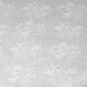 Vintage Naturals XIX Cotton Fabrics - White Scroll Floral