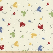 Vintage Play Butterfly Cotton Fabric
