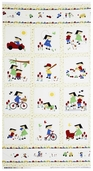 Vintage Play Cotton Fabric Panel