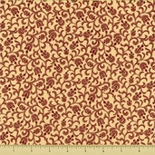 Vintage Rouge Cotton Fabric - Cream 4388-0111
