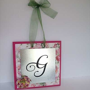 Vinyl Monogram Wall Plaque