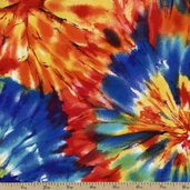 VIP Tie Dye Cotton Fabric - Multi TIE-DYE-MULTI - Clearance