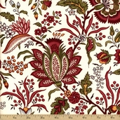 Virginia Cotton Fabric - Cream #35109A-1