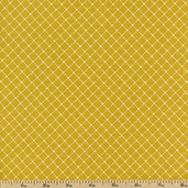 Virginia Cotton Fabric - Dot Grid - Gold 36158-4
