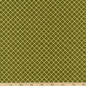 Virginia Cotton Fabric - Dot Grid - Green 36158-3