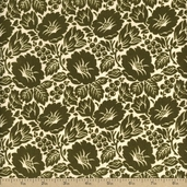 Virginia Cotton Fabric - Olive 36155-3