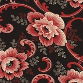 Vivaldi Cotton Fabric - Black