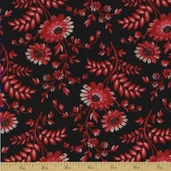 Vivaldi Cotton Fabric - Black Floral