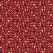 Vivaldi Cotton Fabric - Red