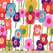 Vivienne Daisy Larkspur Cotton Fabric - Multi 7664A