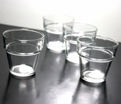 Votive Candle Holder Flower Pot Pkg of 12 - Clear Glass