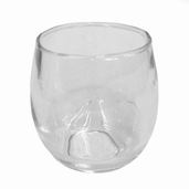 Votive Candle Holder Rolypoly Pkg of 12 - Clear Glass