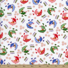 Walk in the Park May Flowers Cotton Fabric - Primary