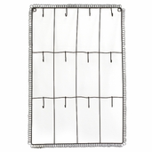Wall Decor Grid with Hooks - Brown
