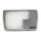 Wallet Magnifier - Lighted Silver