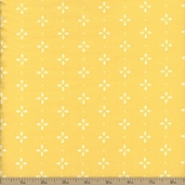 Wallflowers Four Leaf Floral Cotton Fabric - Yellow