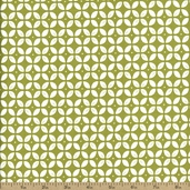 Wallflowers Packed Four Leaf Floral Cotton Fabric - Green